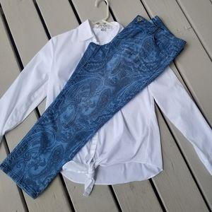 12p Unique Paisley jeans by style & Co